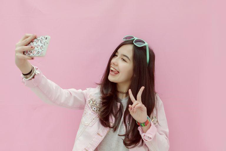 Pink Selfie