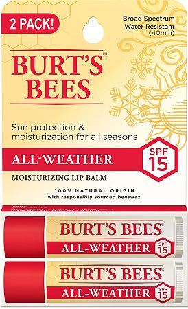Burt's Bees Natural All-Weather SPF15 Moisturizing Lip Balm