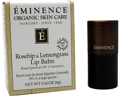 Rosehip - Lemongrass Lip Balm SPF 15 by Eminence Organic Skin Care