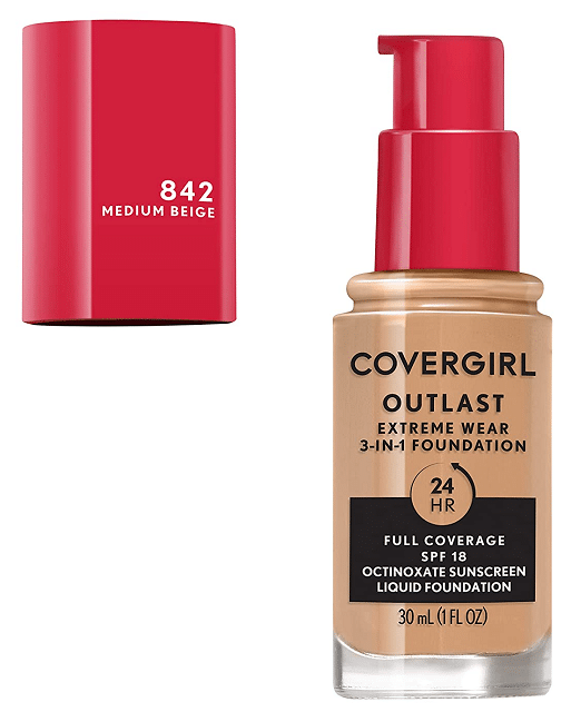 Covergirl Outlast Extreme Wear Full Coverage Liquid Foundation