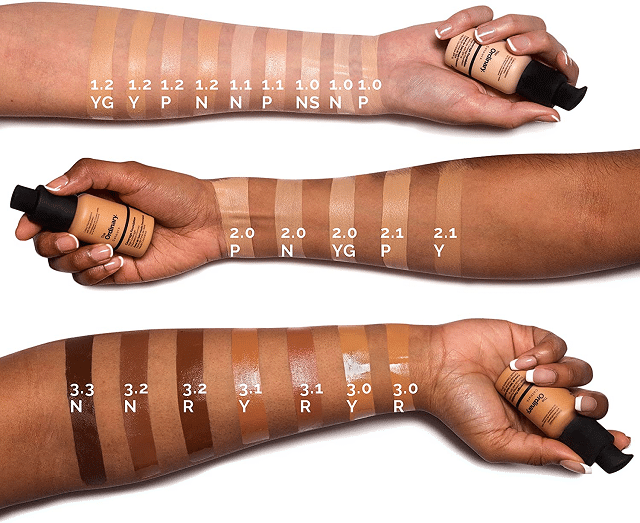 The Ordinary Coverage Foundation Shades